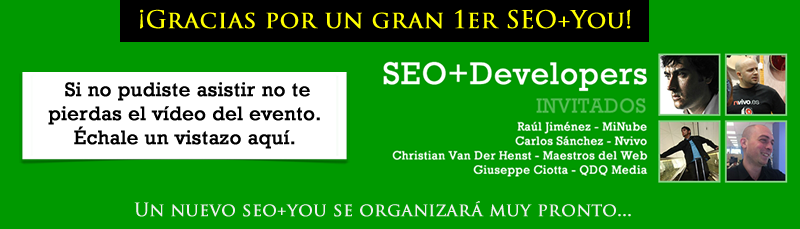 SEO+Developers: Video del Evento
